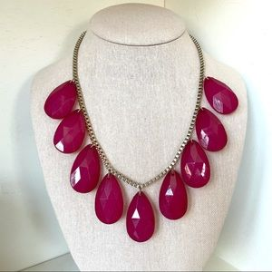 Francesca's Collections Fuchsia Statement Necklace